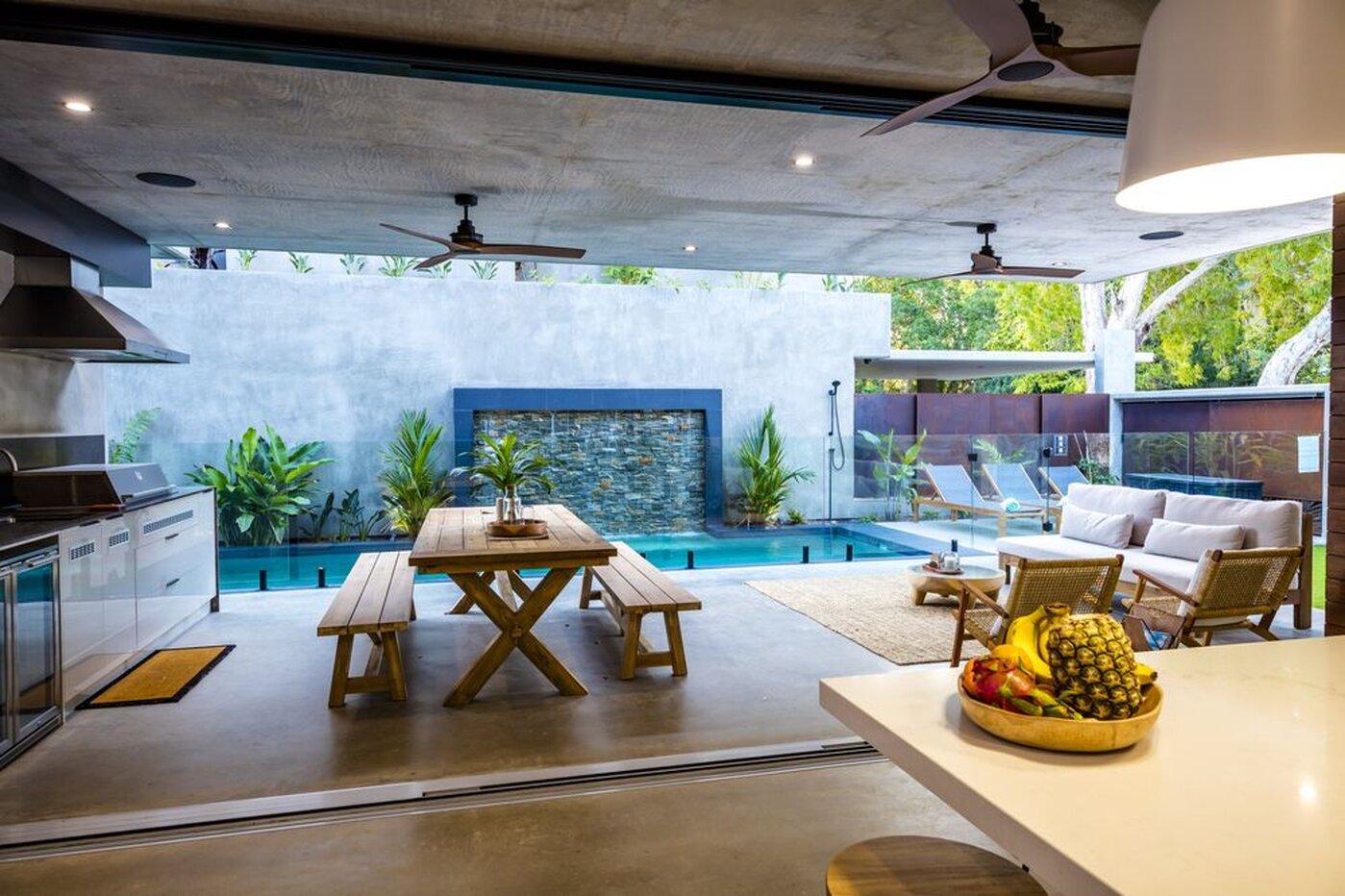 Alfresco area next to pool