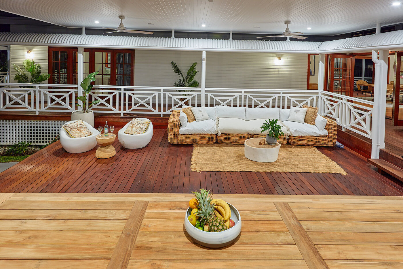 Custom designed roof & deck extension to create outdoor living space