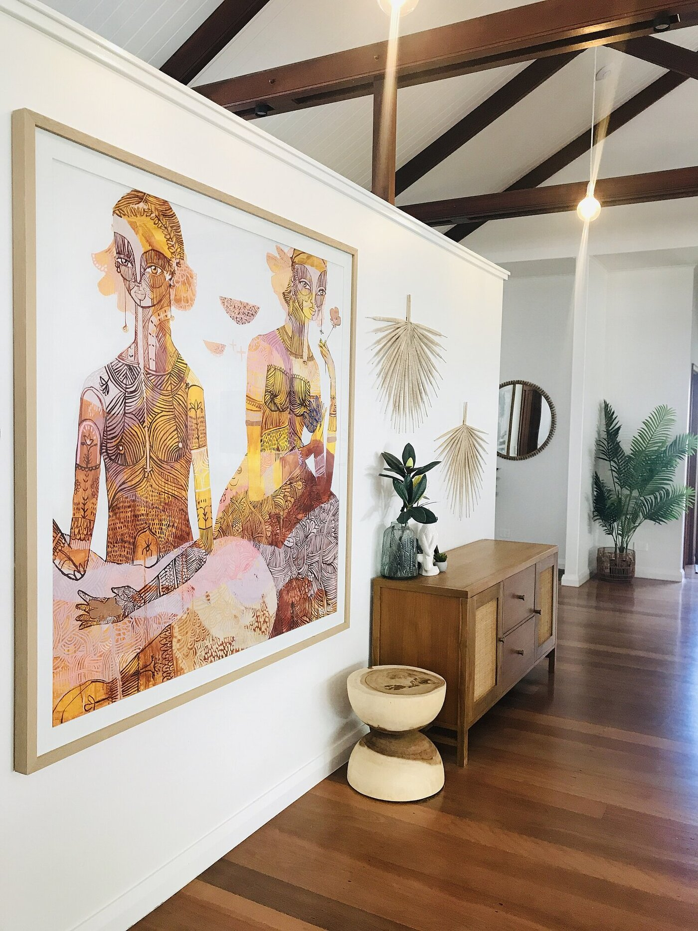 Living Area with Art & Side Table