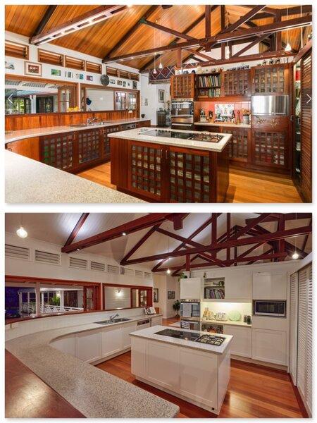 Renovation Before & After Shot of Kitchen