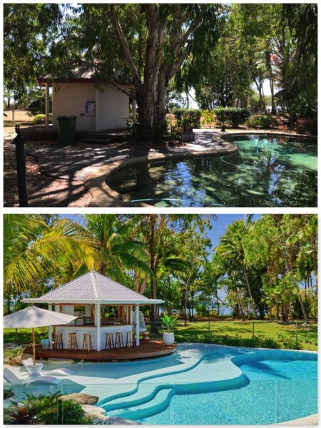 Renovation Before & After Pool Pump House, Cabana & Resort Style Pool